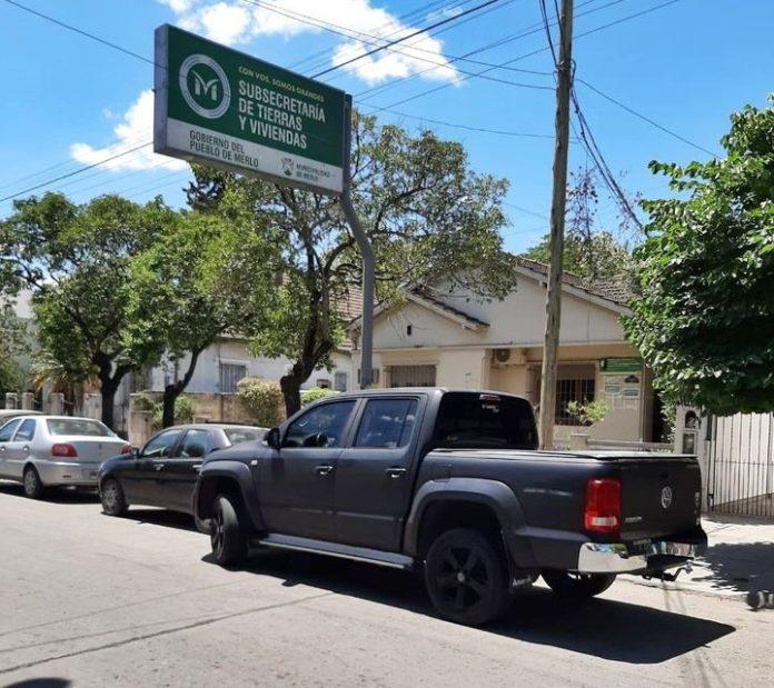 La Subsecretaría de Tierras y Viviendas de la municipalidad de Merlo, allanada ayer. (Facebook MerloGBA)