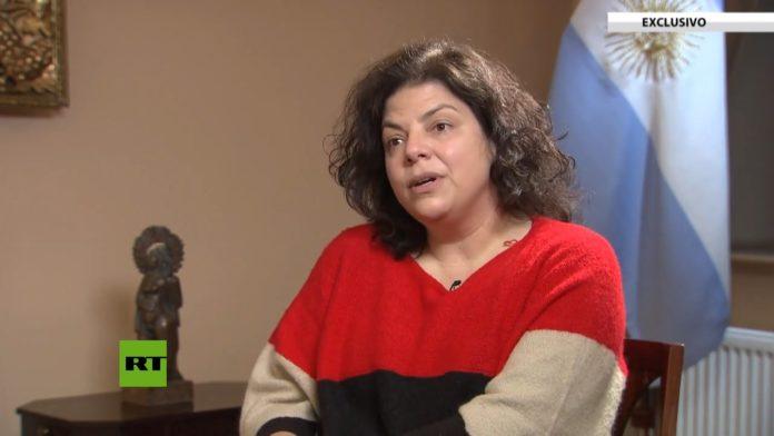 Vizzotti en la entrevista con Russia Today en español. (Captura de video)