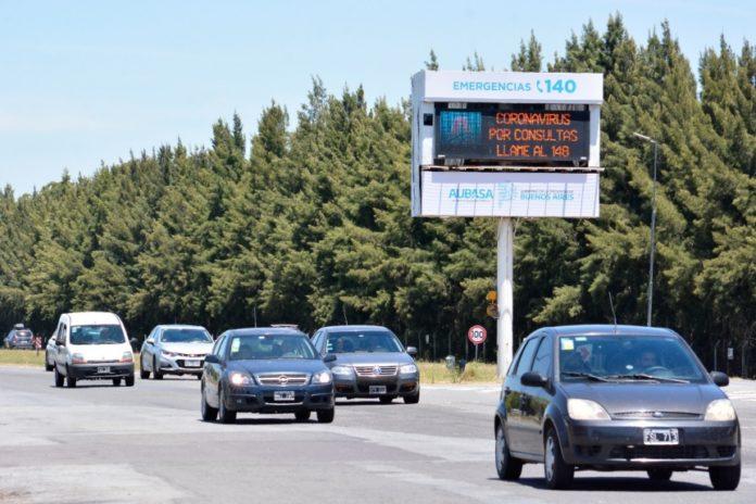 Más de 2.200 autos por hora circularon hacia la Costa en el último día del año