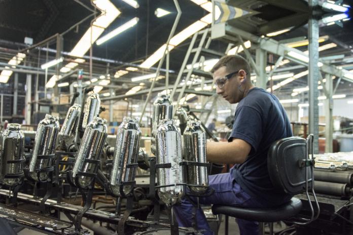 El uso de la capacidad industrial fue en octubre similar al del mismo mes de 2019