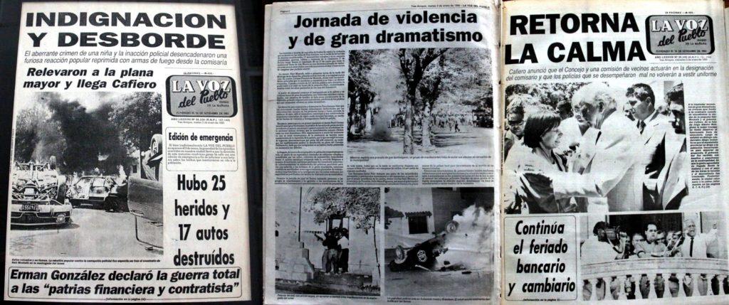 La pueblada reflejada en La Voz del Pueblo.