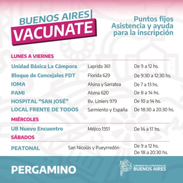 """Polémica en Pergamino: la comuna denuncia que el Frente de Todos hace """"campaña"""" con vacunas"""