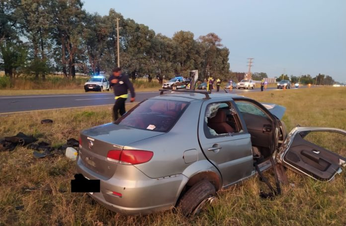 Año Nuevo trágico: dos muertos por un choque frontal en la ruta 2, cerca de La Plata