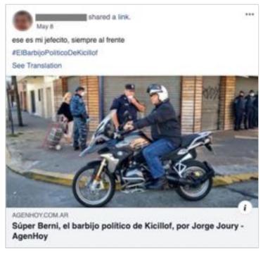 """Facebook eliminó mil cuentas """"bot"""" de supuestos usuarios vinculados con Berni"""