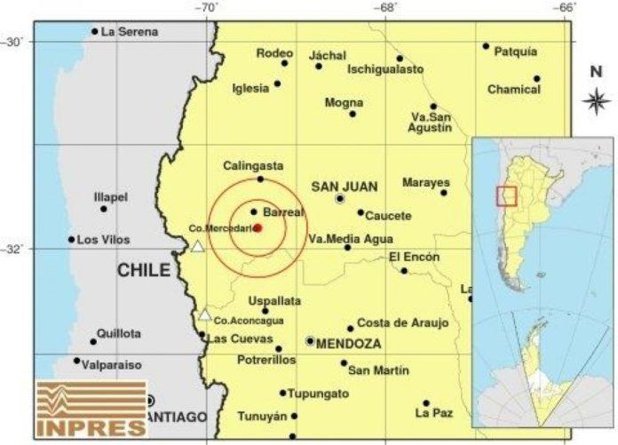 Un sismo de 6.4 grados en la escala de Richter se registró durante la noche de este lunes en la provincia de San Juan