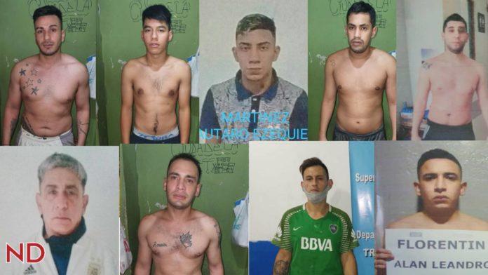 Los presos fugados el 1º de enero de la comisaria en la localidad de José Ingenieros.
