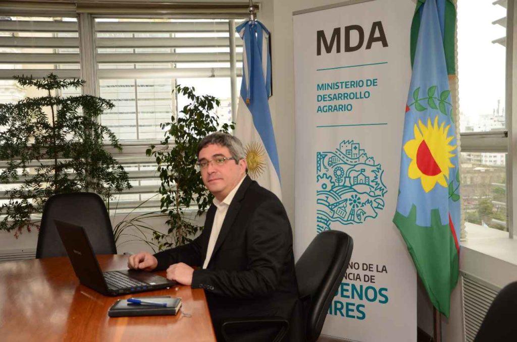 El ministro de Desarrollo Agrario de la provincia de Buenos Aires, Javier Rodríguez.