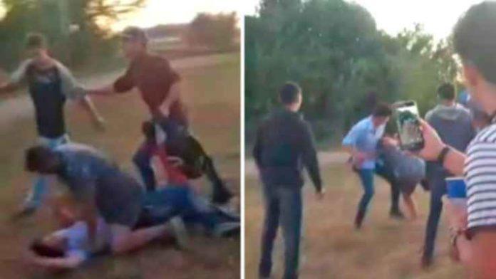 Imágenes que se viralizaron de los incidentes ocurridos el fin de semana en el predio del Club Hípico de Lezama. (Twitter)