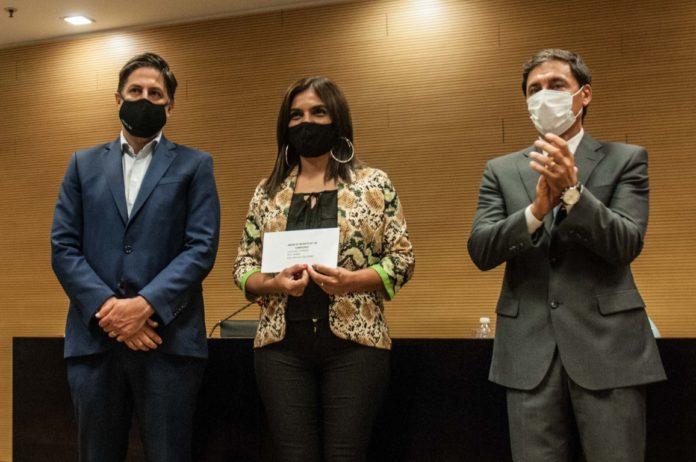 El ministro de Educación, Nicolás Trotta (izquierda), en Santiago del Estero este jueves. (Telam)