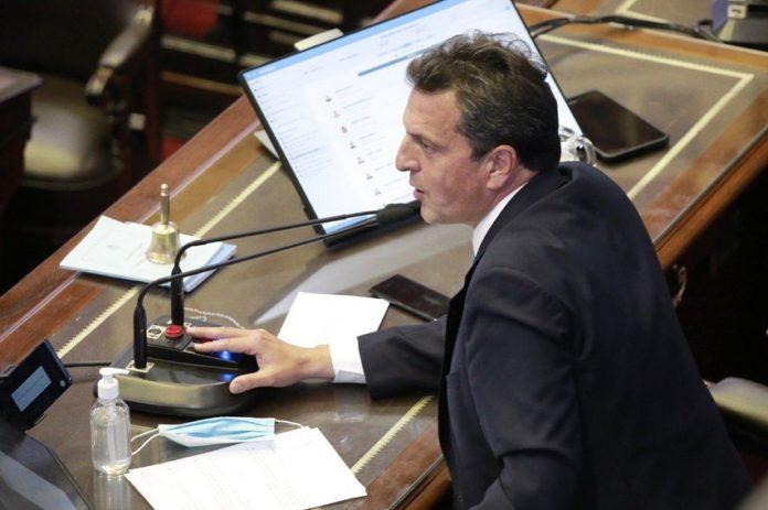El titular de la Cámara de Diputados, Sergio Massa