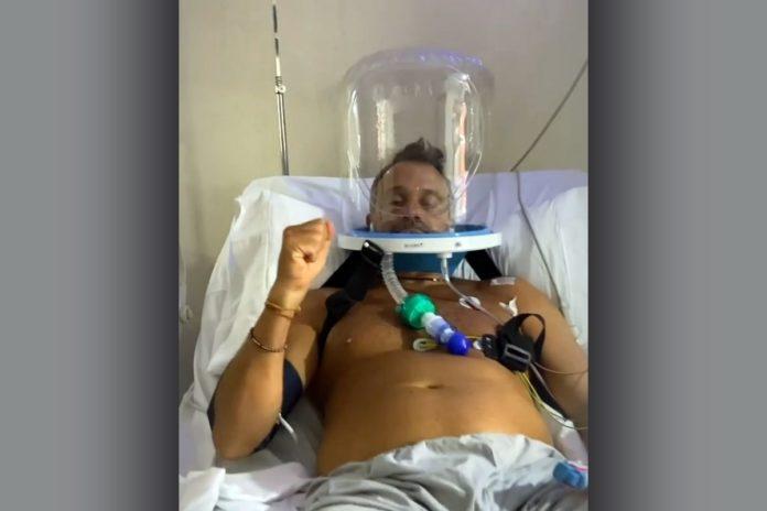 Lapegüe se mostró optimista en su último video en la terapia intensiva. (Instagram)