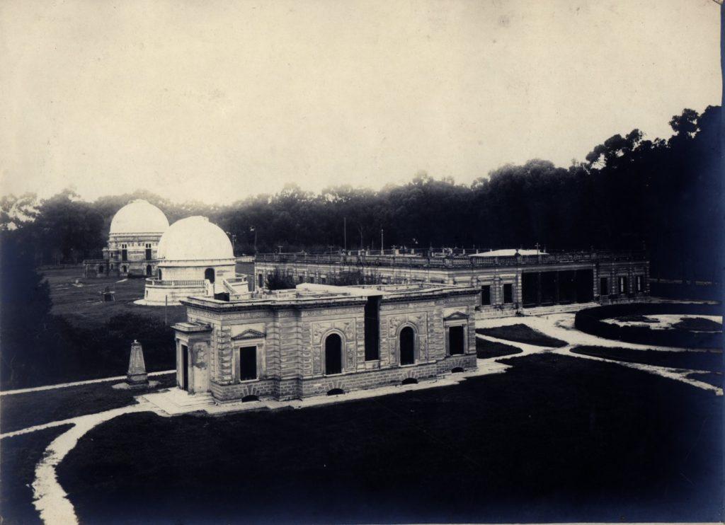 El observatorio de La Plata durante sus primeros años.