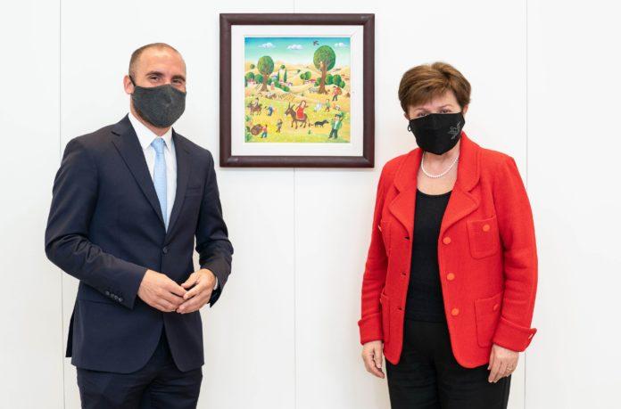 Guzmán inició con Georgieva las negociaciones por la reestructuración de la deuda