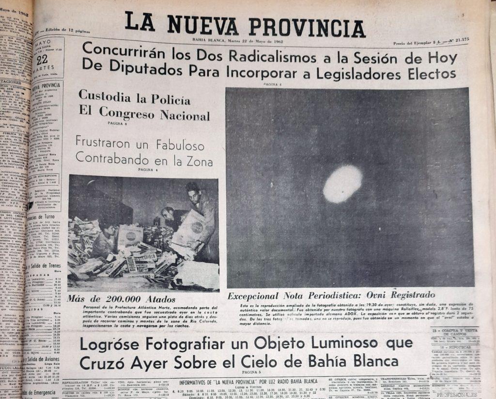 La tapa del 22 de mayo, con la exclusiva foto tomada por Miguel Tohmé. (Gentileza Esteban Lingeri)