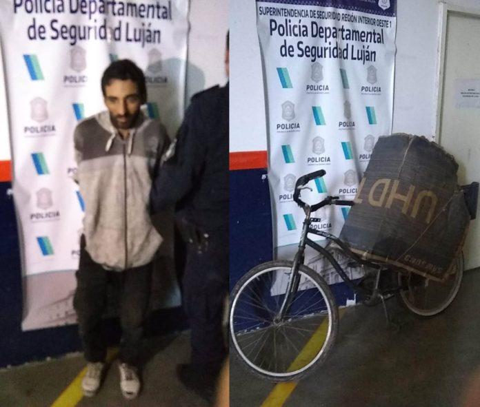 Carlos Sierra o Savanz (39), tras ser detenido por la Policía bonaerense. (Telam)