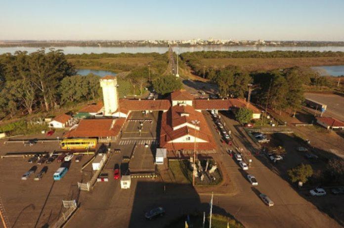 El control en la frontera en Paso de los Libres, Corrientes.