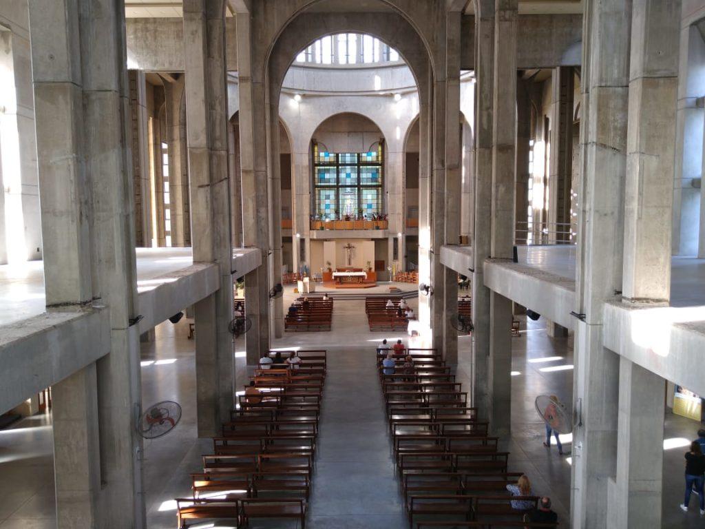 El Santuario de San Nicolás desde el interior. (Gentileza padre Luis Prieto)