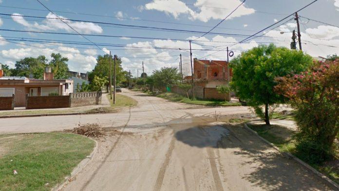 El cruce de calles donde sucedió el hecho, la madrugada del martes.