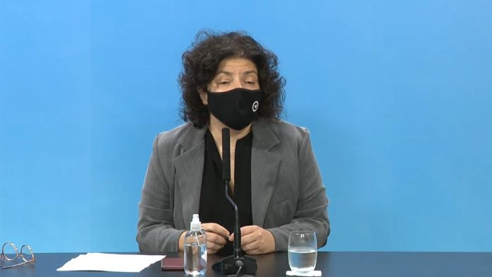 La ministra de Salud nacional, Carla Vizzotti