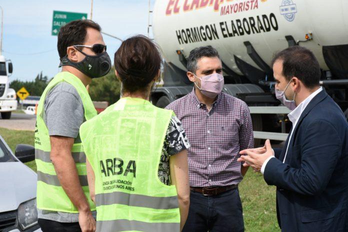 El director de ARBA, Cristian Girard, coordinó las acciones de fiscalización presencialmente.