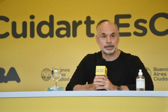 El jefe de Gobierno porteño, Horacio Rodríguez Larreta
