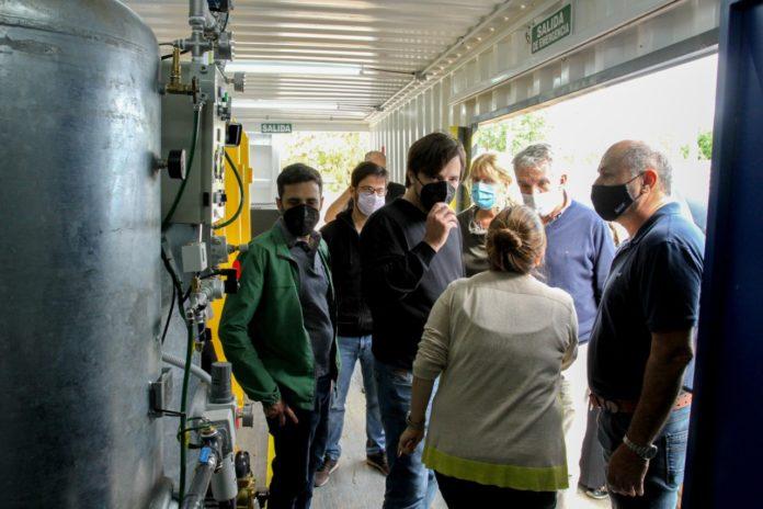 Provincia adquirió una planta móvil para producir oxígeno