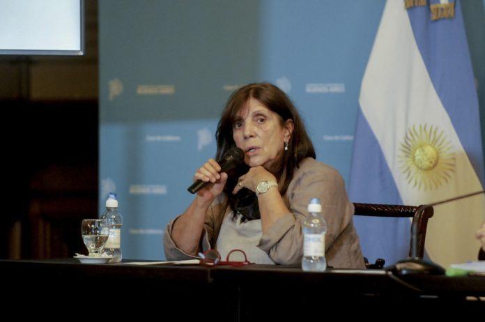 La ministra de Gobierno bonaerense, Teresa García, destacó la figura de Victoria Tolosa Paz