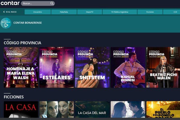 La plataforma Contar Bonaerense tendrá un espacio para que los músicos suban sus producciones. (www.cont.ar)