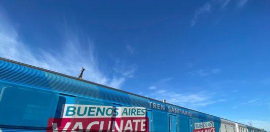 El gobernador Axel Kicillof puso en marcha este jueves un tren sanitario que recorrerá el interior de la provincia de Buenos Aires