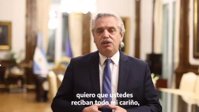 El saludo de Alberto Fernández en el Día Internacional del Trabajo. (Twitter)