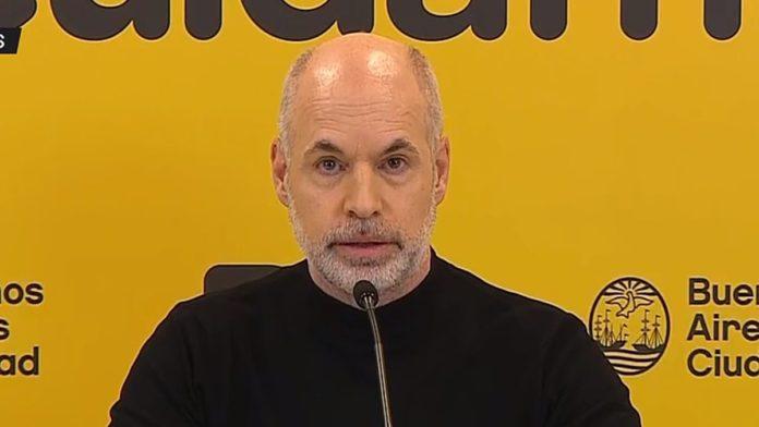 El jefe de Gobierno, Horacio Rodríguez Larreta.