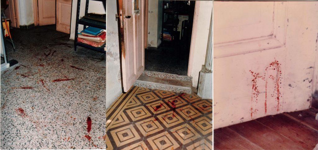 Las manchas de sangre en el interior de la casa seguían una especie de recorrido.