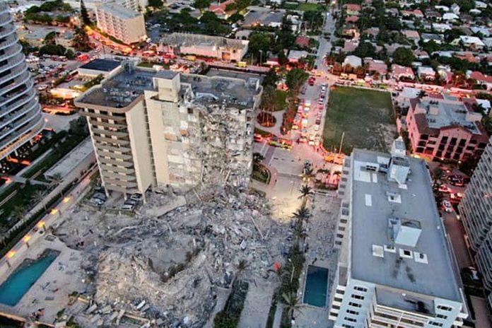 Derrumbe en Miami: Localizan a un argentino pero aún buscan a otros nueve