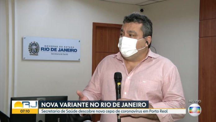 Alexandro Chieppe, el secretario de Salud del estado de Río de Janeiro, anuncia la nueva cepa. (Globo.com)