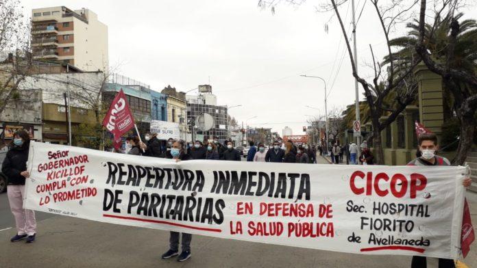 Los profesionales de la salud protestaron para pedir mejoras salariales