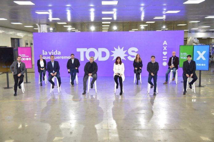 Alberto y Cristina ya presentan la lista que encabezan Tolosa Paz y Gollán