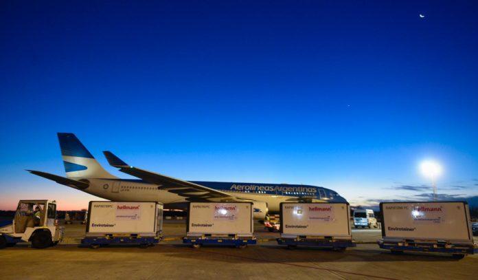 Un nuevo vuelo de Aerolíneas Argentinas (AA) llegará esta tarde al país desde China con 768 mil dosis de la vacuna Sinopharm