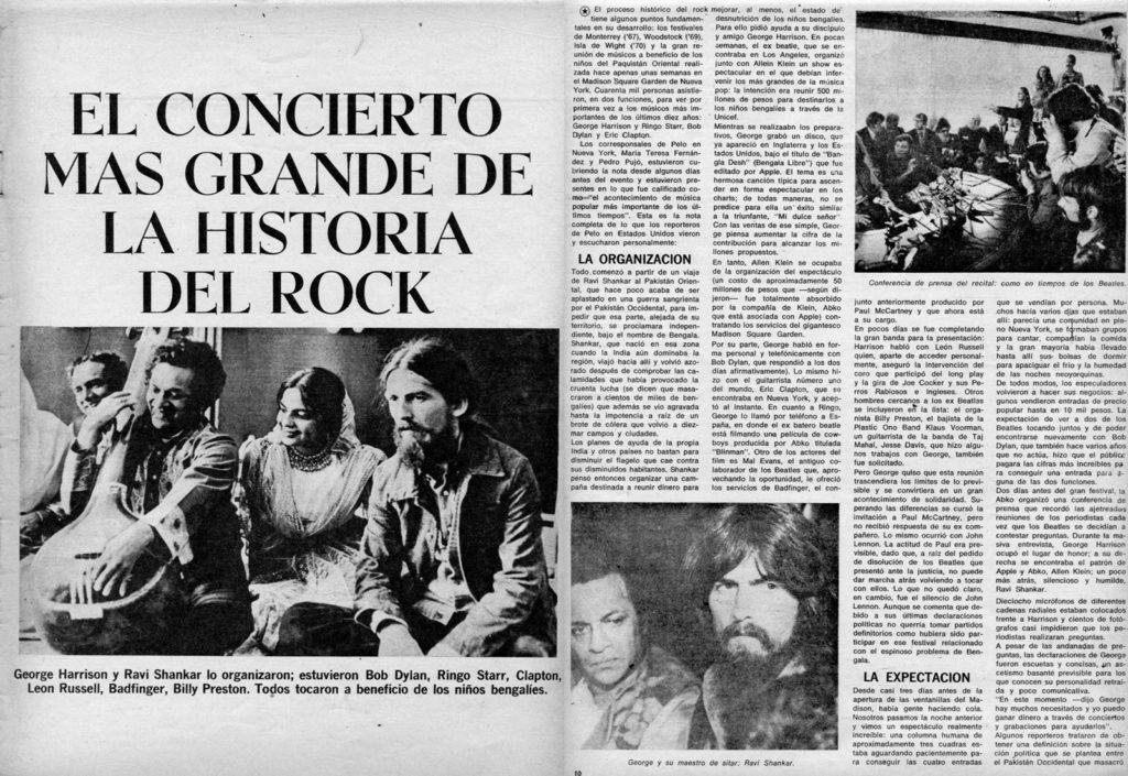 """El concierto más grande de la historia del rock"", tituló la legendaria revista Pelo."