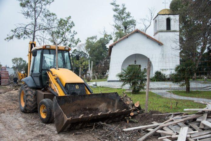 Comenzaron las obras para ampliar las aulas de la Escuela de Cadetes. (Prensa SPB)