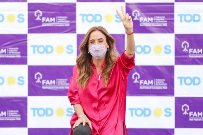La candidata a diputada nacional del Frente de Todos en la provincia, Victoria Tolosa Paz
