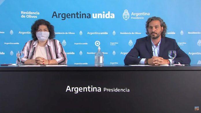 El jefe de Gabinete y la ministra de Salud dieron precisiones sobre lo anunciado por el presidente Alberto Fernández esta mañana