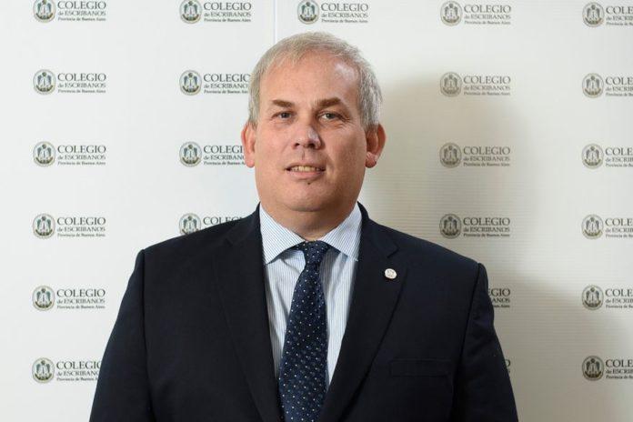 Diego Molina, presidente del Colegio de Escribanos de la provincia de Buenos Aires.