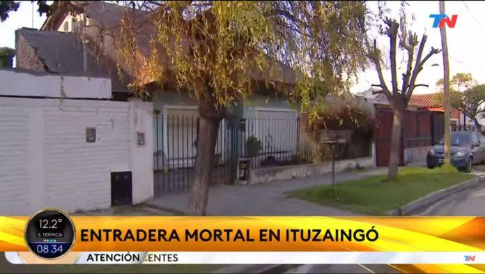 La casa de Ituzaingó donde tuvo lugar el violento enfrentamiento. (Captura de TV)