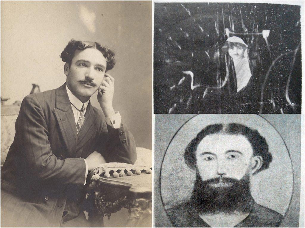 Osvaldo Fidanza junto a dos entidades con las que se comunicaba: Aetes e Ismael. (Gentileza Juan Corbetta)