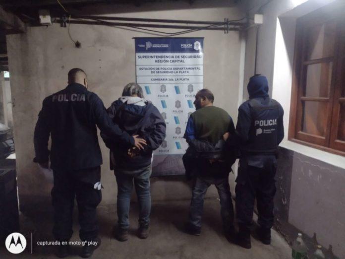 Los detenidos por el escándalo en la clínica de La Plata. (Policía Bonaerense)