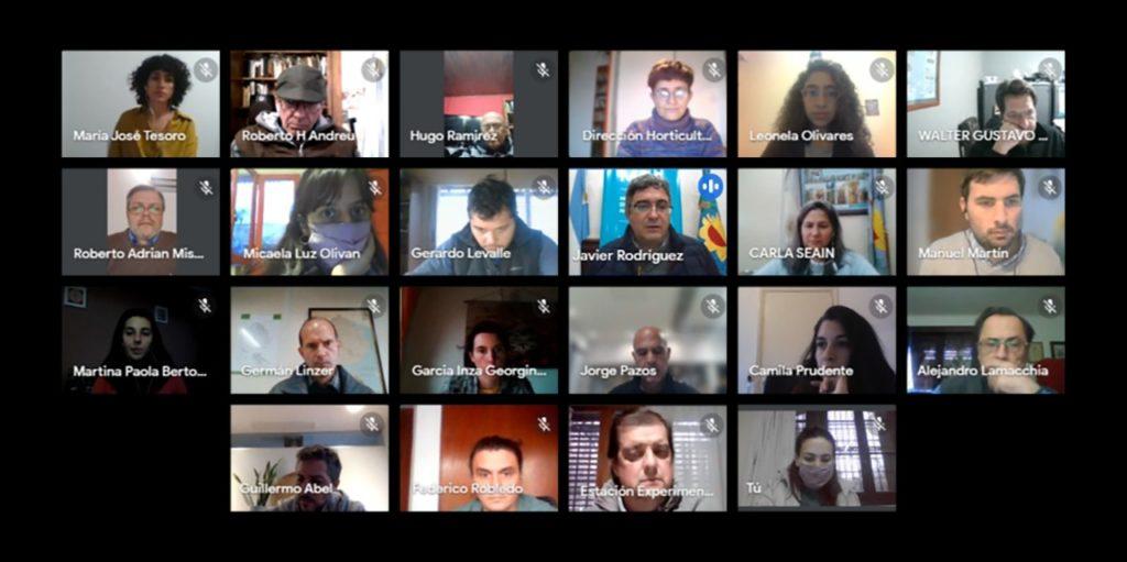 La reunión virtual donde se presentó el boletín. (Prensa MDA)