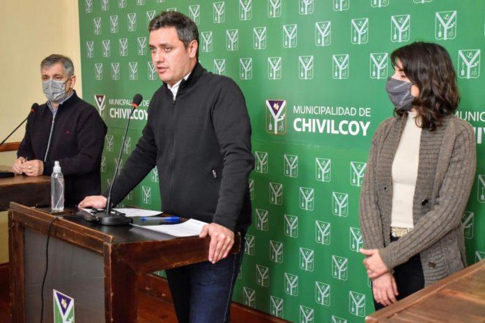 El subsecretario de Transporte bonaerense, Alejo Supply, en Chivilcoy. (Prensa Subsecretaría)