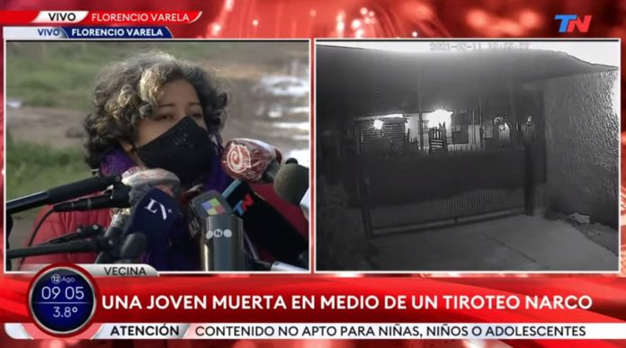 Los vecinos del barrio San Rudecindo hablaban esta mañana con la prensa. (Captura de video)
