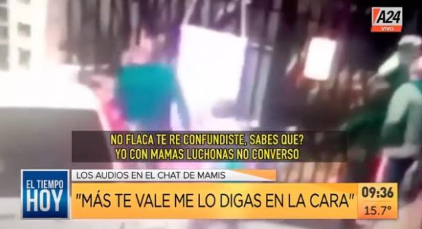 La pelea fue registrada en las cámaras de seguridad de la cuadra. (Captura de video)