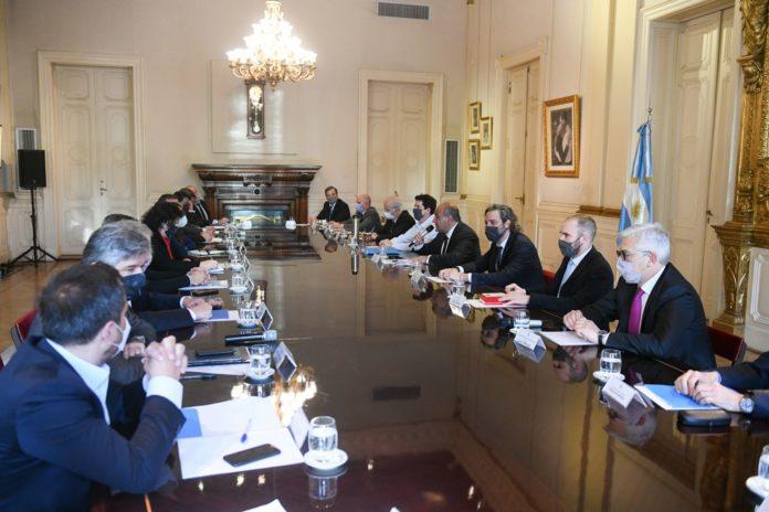 La primera reunión del Gabinete con Juan Manzur a la cabeza. (Presidencia)